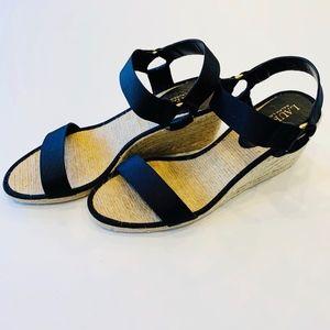 LAUREN Ralph Lauren Wedge Espadrille Sandals Sz 8